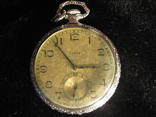 Elgin 14K Gold Filled Pocket Watch - 17 Jewel - 1925