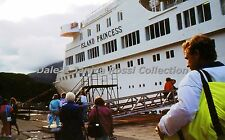 S009 35mm Slide Whittier Ak Boarding the Island Princess 1990 Color Transparency