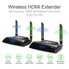 300FT 2.4GHz 5GHz 1080P HDMI Wireless TV Audio Transmitter Receiver AV Sender