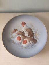 Hutschenreuther Gunther Granget 1974 Partridge Plate