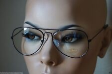 Aviator Glasses Hipster Nerd Vintage Style Retro Metal Clear Black 112