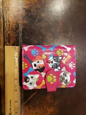 NWT Shag Wear Dog Bones Paws Womens Girls Bifold Wallet Pink