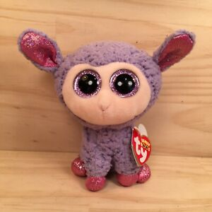 "LAVENDER THE LAMB ""Purple"" Beautiful Cuddly Sheep Soft Toy Stuffed Friend (Ty)"
