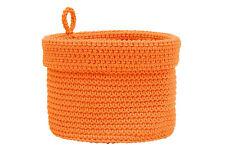 Heritage Lace SET OF 3 Orange Crochet Baskets, Durable Machine Wash 2 DIFF SIZES