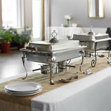 Classic Catering Stainless Steel Chafer Full Chafing Dish Size Buffet Half Set