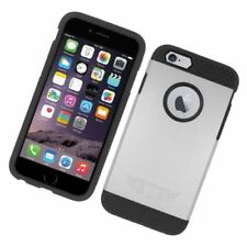Fundas y carcasas de plástico de color principal plata para teléfonos móviles y PDAs Apple
