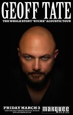 "Geoff Tate ""The Whole Story ""Ryche"" Acoustic Tour"" 2017 Phoenix Concert Poster"
