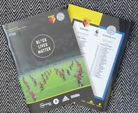 Watford v Leicester BLACK LIVES MATTER Collector Programme 20/6/20!READY TO POST