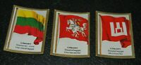 German Vintage Cigarettes Card Lituania Historical Flags of countries World WarI