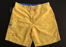 Polo Ralph Lauren Men XL Kailua Swim Board Shorts Trunks Yellow GENUINE NEW