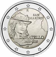 San Marino 2 Euro 2016 David von Donatello Gedenkmünze in Coin Card