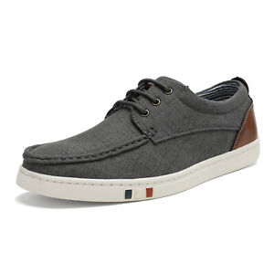 Bruno Marc Mens Fashion Casual Shoes Low Top Canvas Lace up Driving Boat Shoes