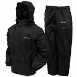Frogg Toggs Mens Classic All Sport Rainsuit Black MD AS1310-01MD
