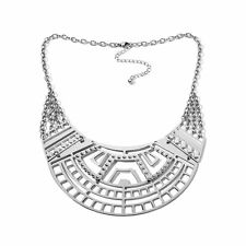 """STATELY STEEL BOLD OPEN COLLAR 18"""" STAINLESS STEEL NECKLACE HSN SOLD OUT"""