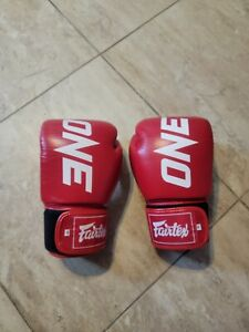 Fairtex X ONE FC BGV1 Boxing Gloves Red Muay Thai Sparring Kick boxing