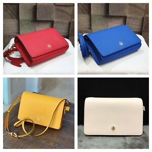 Tory Burch Emerson Large Combo Crossbody Saffiano Leather