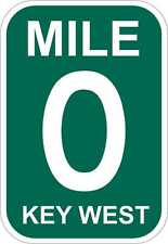 Mile Marker 0 Key West Sticker Decal **FREE SHIPPING IN U.S.*