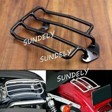 Black Solo Seat Luggage Rack For 85-03 Harley Davidson Sportster XL883/1200 48