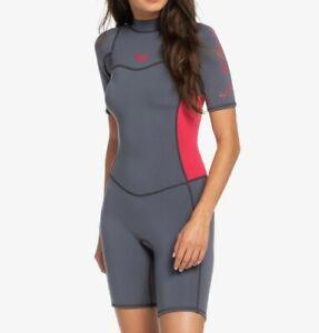 ROXY Women's 2/2 SYNCRO BZ S/S Spring Suit - XKKM - Size 8 - NWT