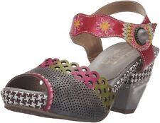 L'Artiste by Spring Step Women's Jive Leather Heel Sandal in Gray Multi