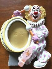 Vintage Creepy Clown Picture Frame Clown Playing Drums