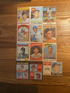 Lot Of 70 Vintage Baseball Cards Stars HOF Included Fair To EX+ Combined Ship
