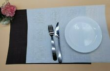 6 x Placemats Table mat  PVC Package-Heat Resistant & Washable white / brown