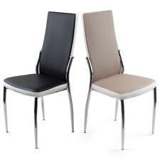 Chaise de salle à manger en chrome pour la maison