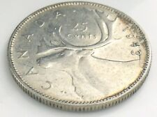 1943 Canada 25 Twenty Five Cent Silver Circulated Canadian George VI Coin I544