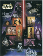 #4143 Star Wars Movies. Sheet of (15) 41 Cent Mint US Stamps MNH
