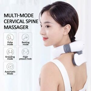 Neck Massager 4D Magnetic Pulse Heated Electric Far Infrared Heating Pain Relief
