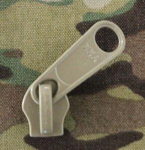 #10 YKK Metal Zipper Pull, Slider, AU, Tan499, Pouch, Gear, Army, Hunting, DIY