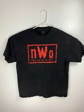 WCW NWO WolfPack Red & Black T-Shirt Size XL Scott Hall Nash Sting Wolfpack