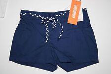 Nuevo Gymboree Azul Cuerda Cinturón Sarga Shorts Talla 5 con Etiqueta Safari