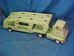 "1960s TONKA Pressed Steel AUTO TRANSPORT Toy TRUCK 18"""