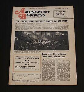Amusement Business Billboard Publication ~1968 Fairs Advertising