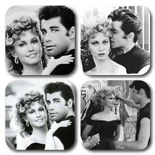 Grease Themed Coasters - Set of 4 - High quality compressed hardwood backed