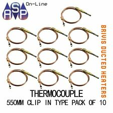 """BRIVIS THERMOCOUPLE 21"""" 550mm CLIP-IN TYPE - B009065 - PACK OF 10"""
