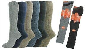 3 Pairs Mens Socks Long Wool Thick Winter Warm Walking Hiking Ski Boot Work