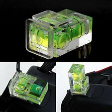 Zapata De Flash De Cámara Nivel De Burbuja Doble 2 Ejes Burbuja de montaje para SLR DSLR Canon