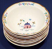 "Set of 8 International Stoneware HEARTLAND Soup Cereal Bowls - 6 3/4"" - Japan"