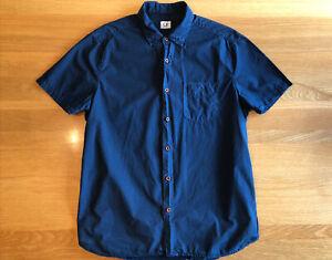 Mens C.P. Company Short Sleeve Navy Pocket Summer Shirt Size L (Fits Slim)