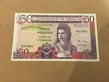 Gibraltar 1, 5, 10 and 50 Pounds set