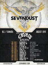 SEVENDUST / CROBOT / RED TIDE RISING U.S. / CANADA 2016 CONCERT TOUR POSTER