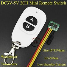 0.5-0.8ma Low Standby Current Mini Remote Switch 3V 3.3V 3.7V 4.2V 4.5V 5V Low C