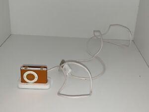 Apple iPod Shuffle Orange 2nd Generation Bundled with USB Charger