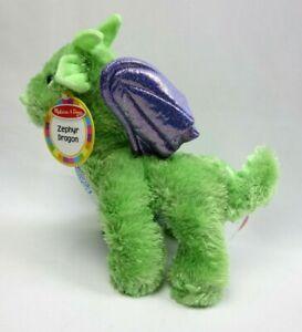 Melissa And Doug Zephyr Dragon Plush Figure Kids Stuffed Toys New