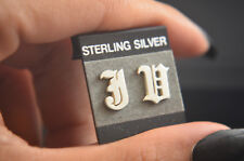 Old English Initial Earrings Hand Made Sterling Silver .925 Screw Back