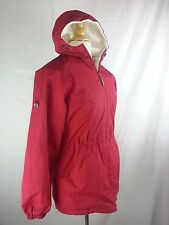 WOMEN'S FREE COUNTRY WINTER COAT REVERSIBLE Red White W/ HOOD SIZE M Medium