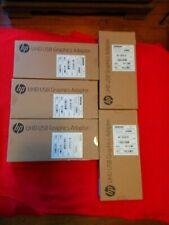 HP Genuine 5 Piece Lot N2U81AA#ABA UHD USB Graphics Adapters New Sealed Retail